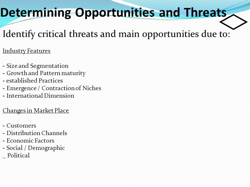 Determining Opportunities and Threats
