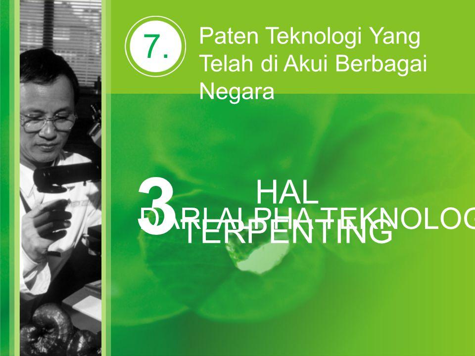 3 7. HAL TERPENTING DARI ALPHA TEKNOLOGI