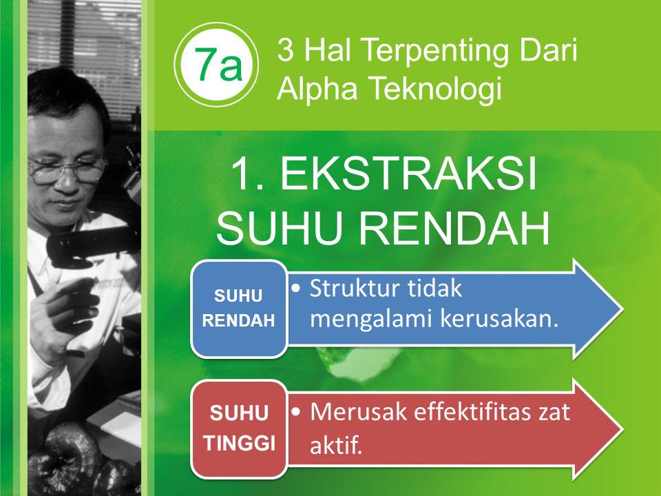 7a. 1. EKSTRAKSI SUHU RENDAH 3 Hal Terpenting Dari Alpha Teknologi