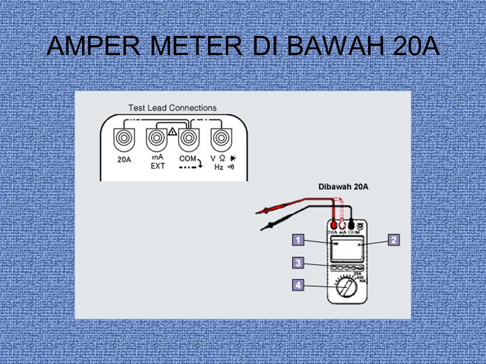AMPER METER DI BAWAH 20A