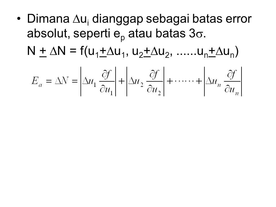 Dimana Dui dianggap sebagai batas error absolut, seperti ep atau batas 3s.