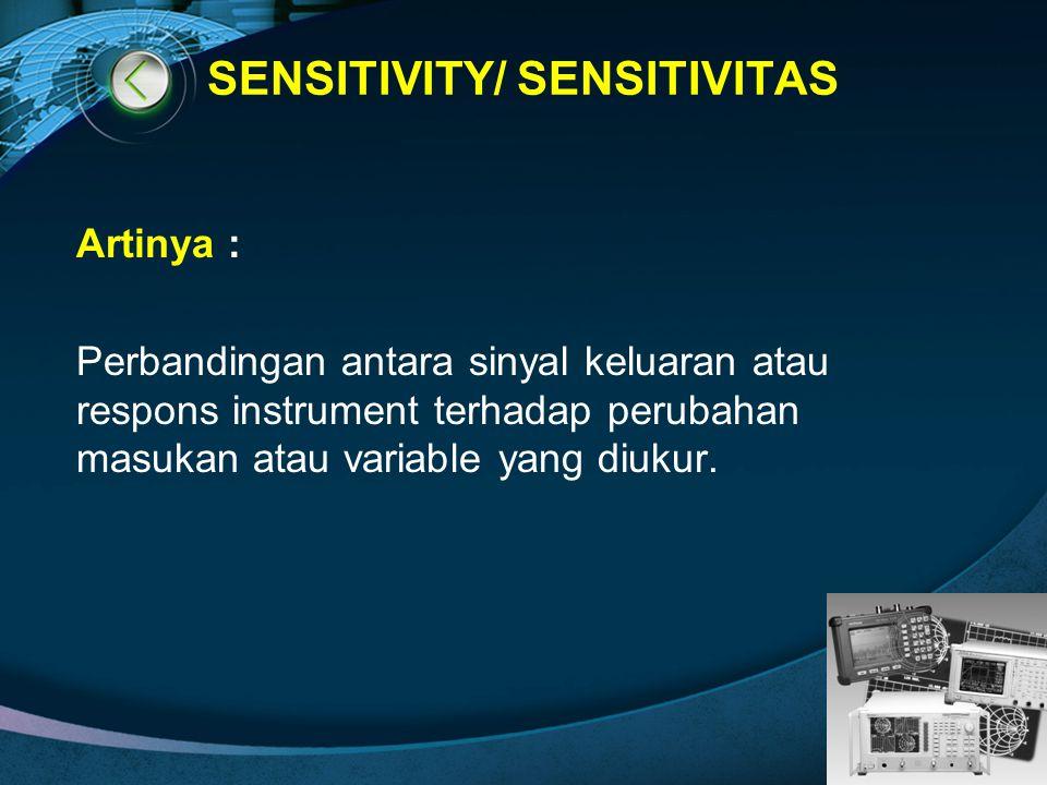 SENSITIVITY/ SENSITIVITAS
