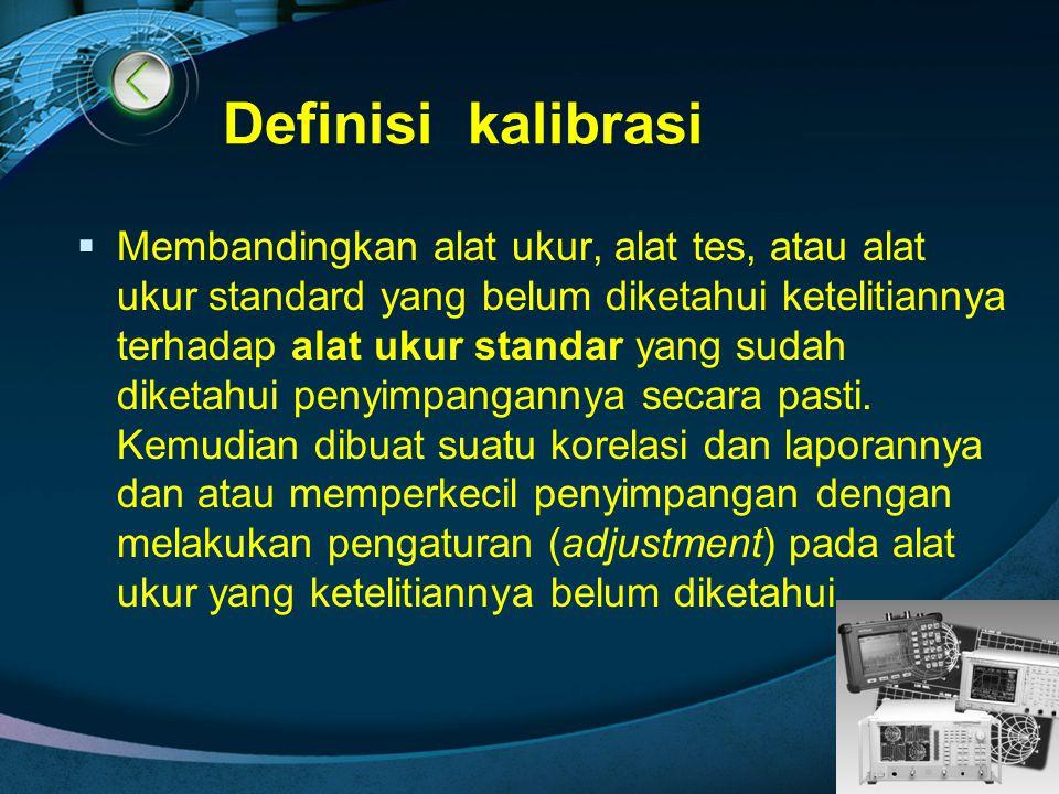Definisi kalibrasi