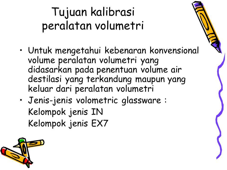 Tujuan kalibrasi peralatan volumetri