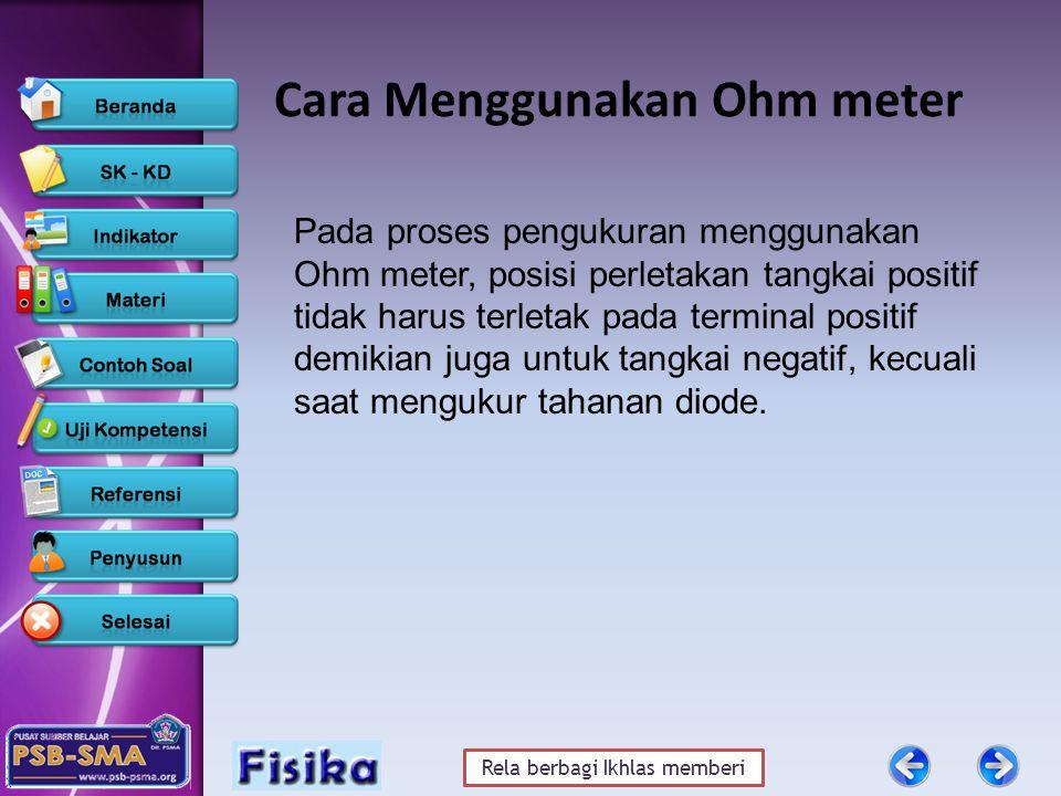 Cara Menggunakan Ohm meter