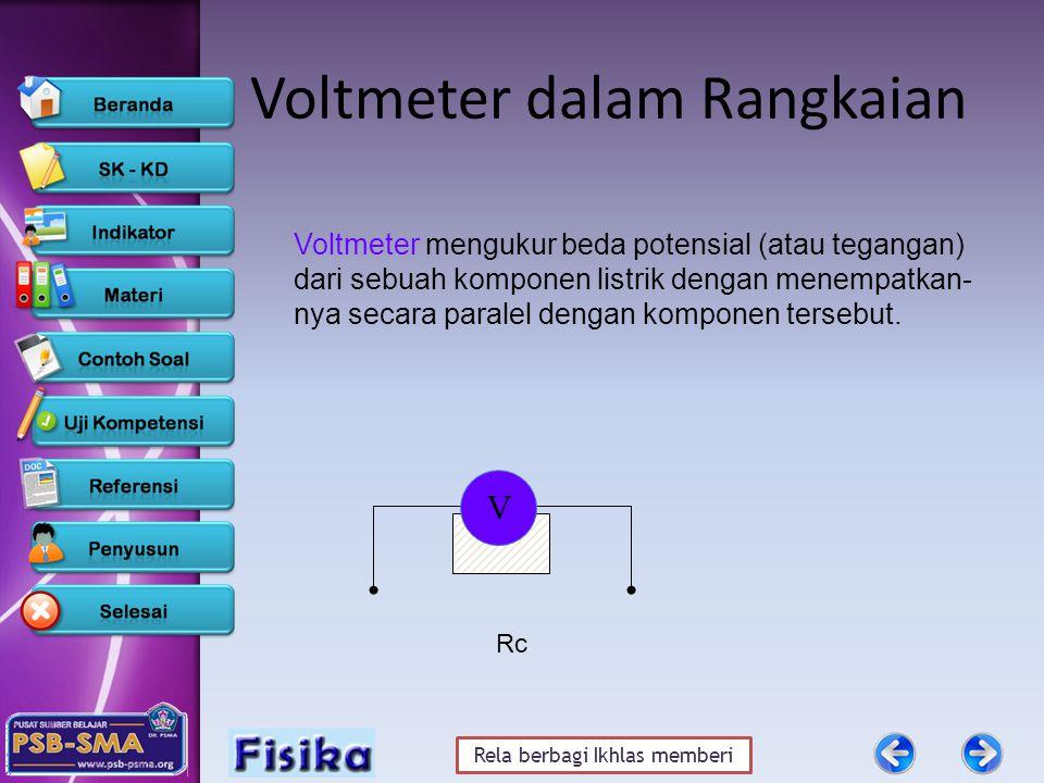 Voltmeter dalam Rangkaian