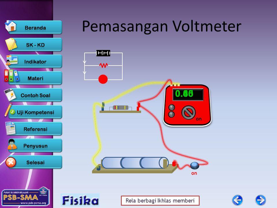 Pemasangan Voltmeter 0.65 0.00 0.45 0.80 on on
