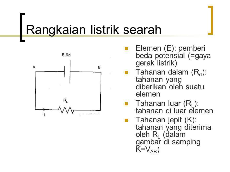Rangkaian listrik searah