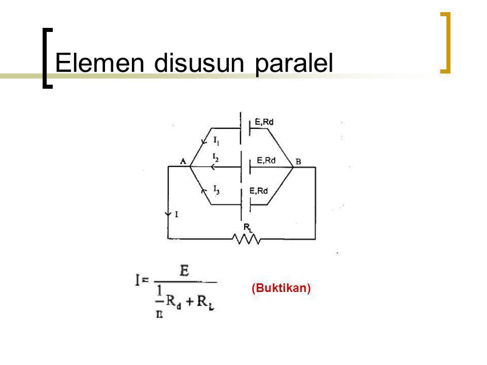 Elemen disusun paralel