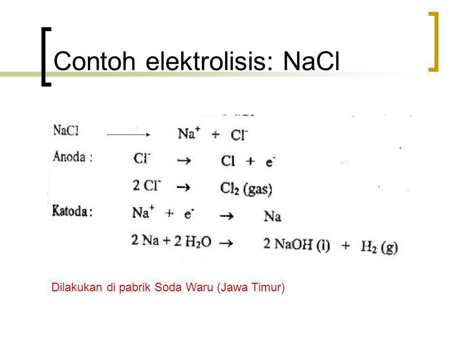 Contoh elektrolisis: NaCl