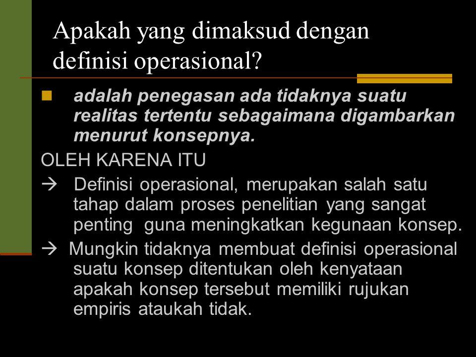 Apakah yang dimaksud dengan definisi operasional
