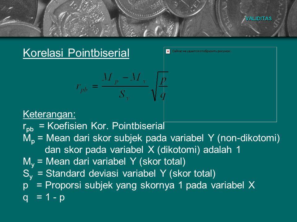 Korelasi Pointbiserial