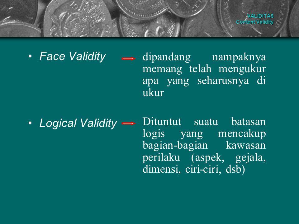 VALIDITAS Content Validity