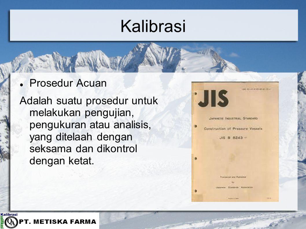 Kalibrasi Prosedur Acuan