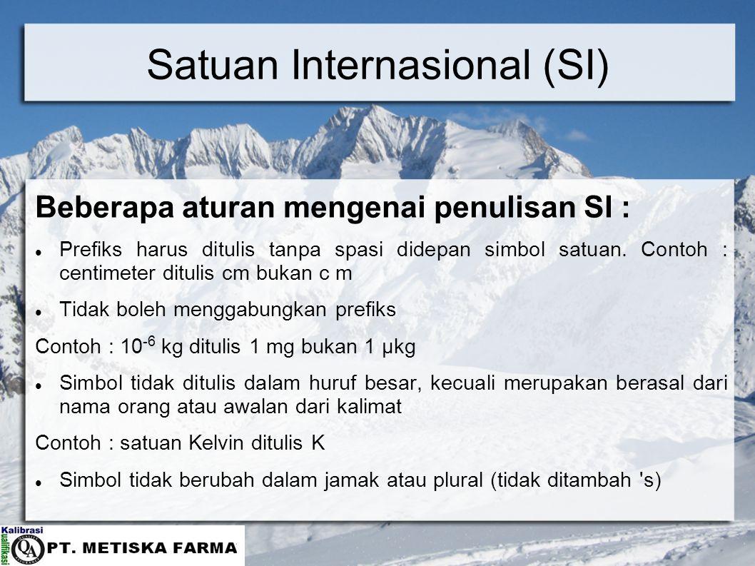 Satuan Internasional (SI)