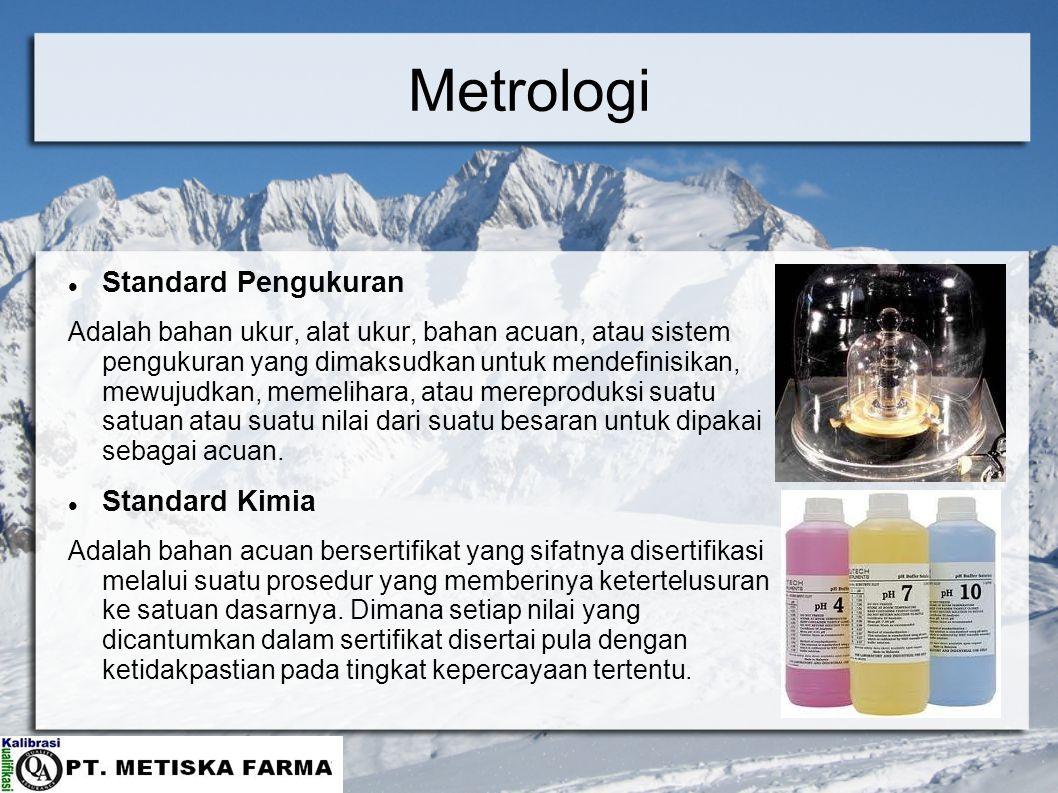 Metrologi Standard Pengukuran Standard Kimia
