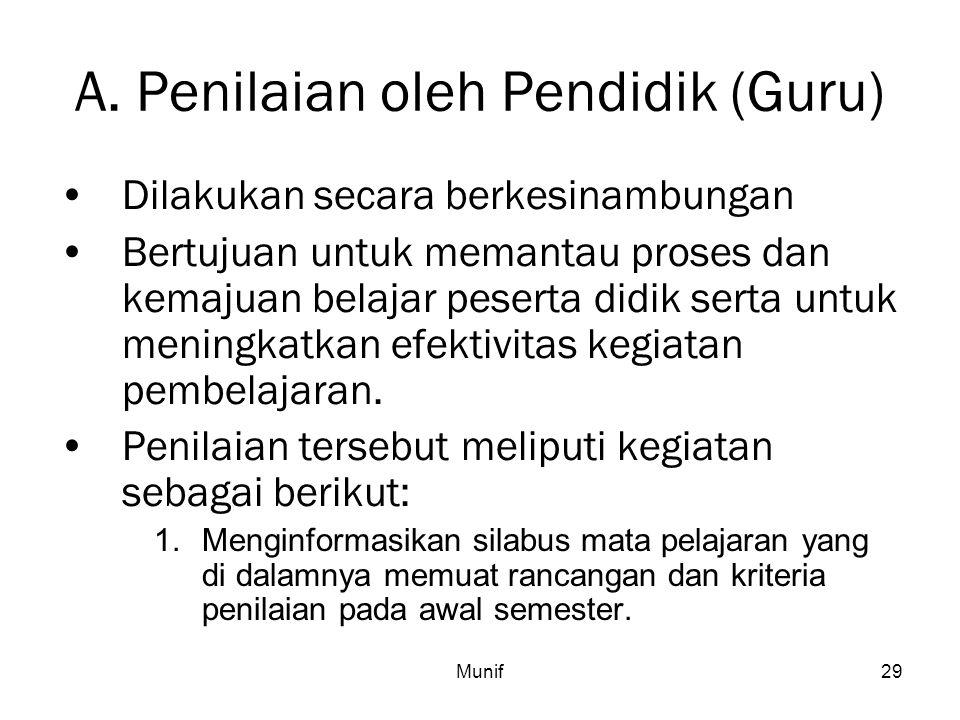 A. Penilaian oleh Pendidik (Guru)