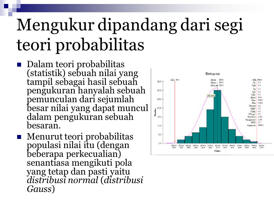 Mengukur dipandang dari segi teori probabilitas