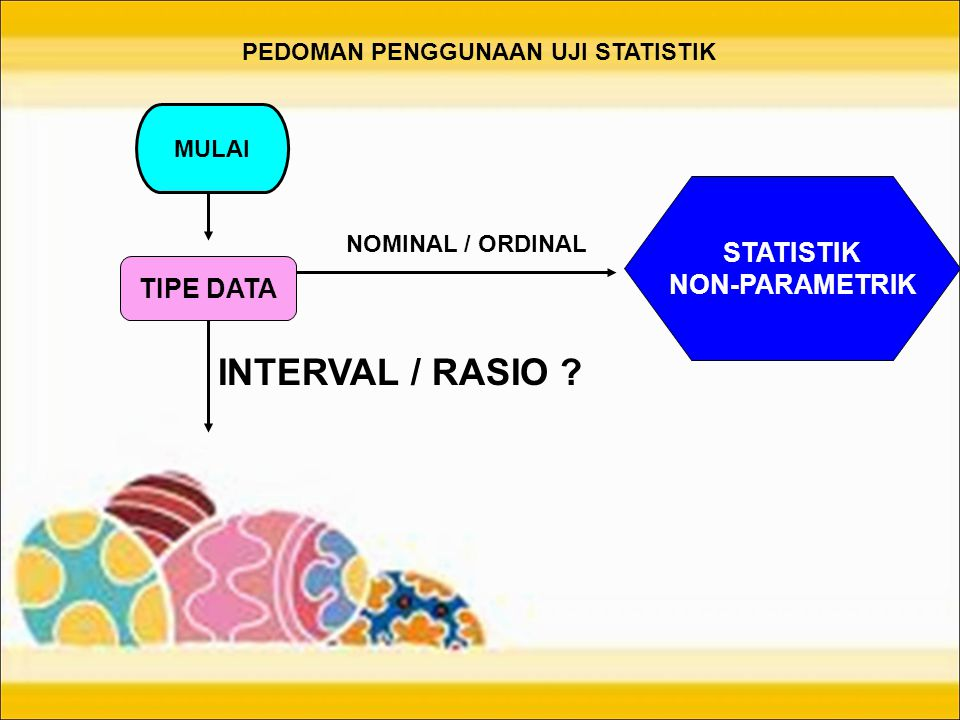 INTERVAL / RASIO STATISTIK NON-PARAMETRIK TIPE DATA