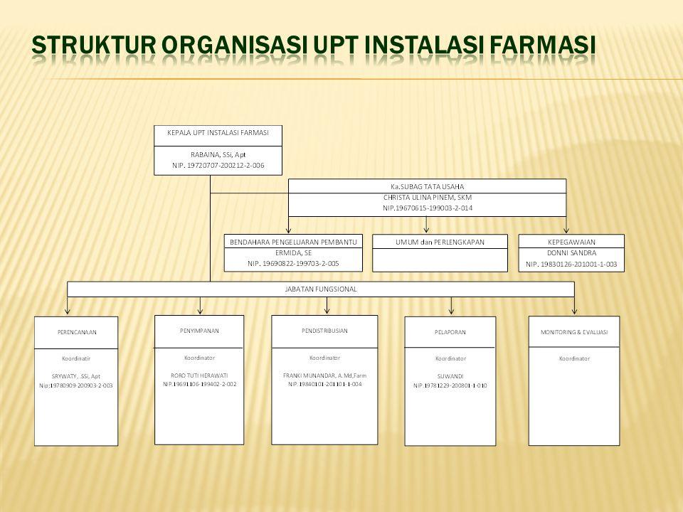 STRUKTUR ORGANISASI UPT INSTALASI FARMASI