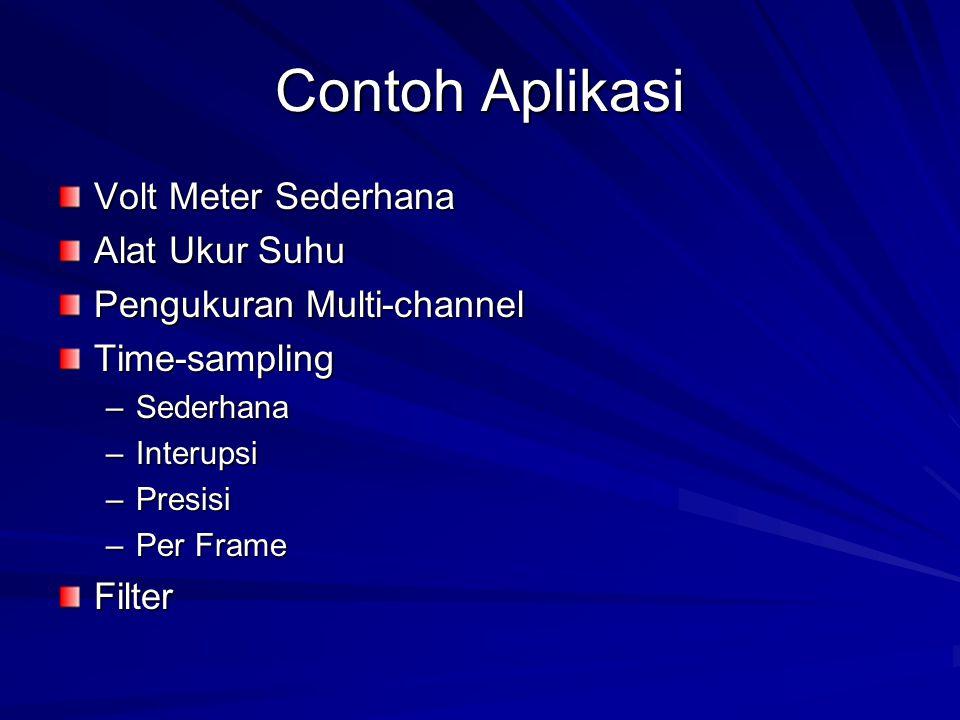Contoh Aplikasi Volt Meter Sederhana Alat Ukur Suhu