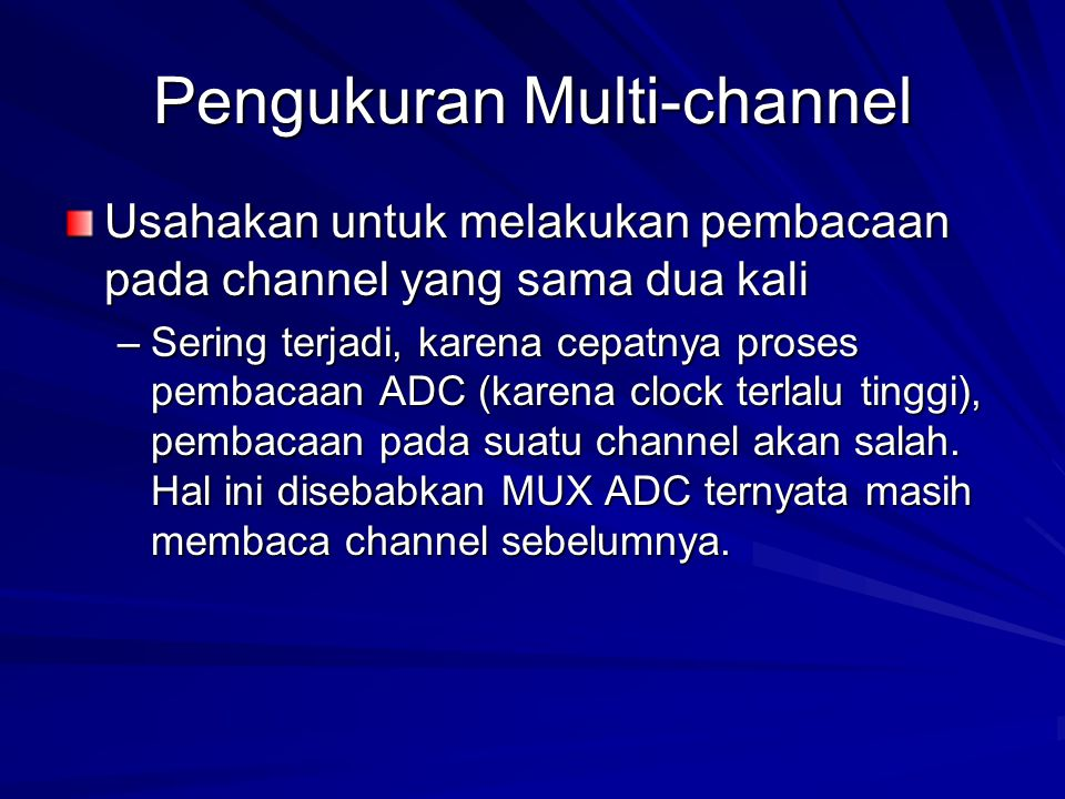 Pengukuran Multi-channel