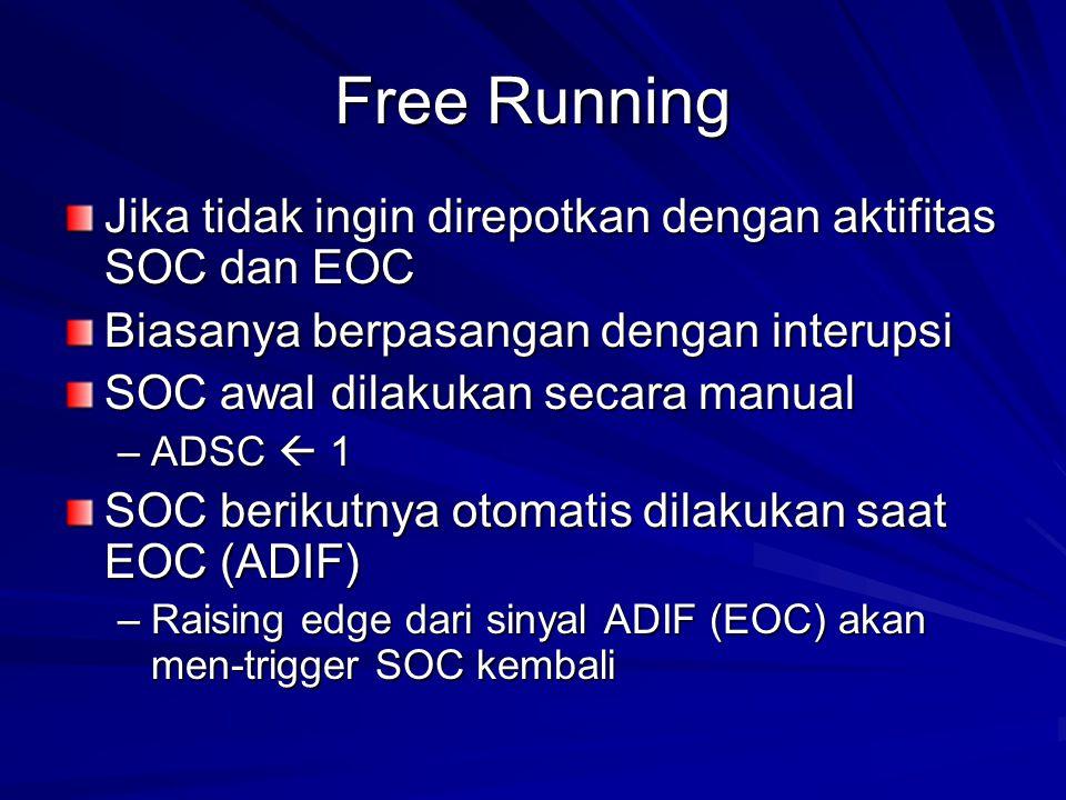 Free Running Jika tidak ingin direpotkan dengan aktifitas SOC dan EOC