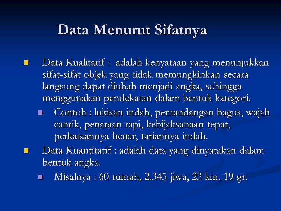 Data Menurut Sifatnya