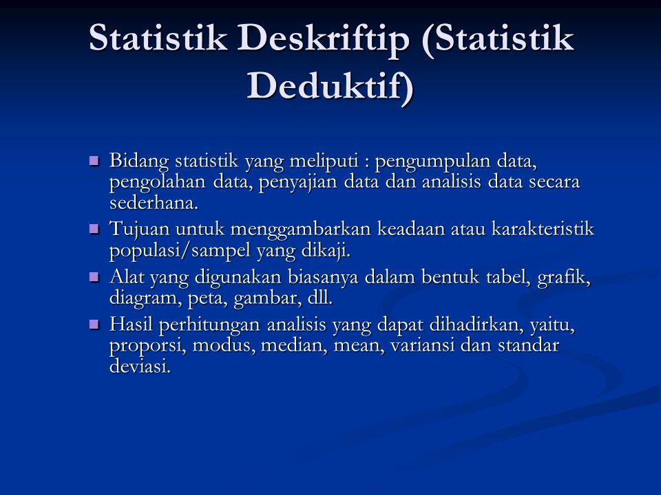 Statistik Deskriftip (Statistik Deduktif)