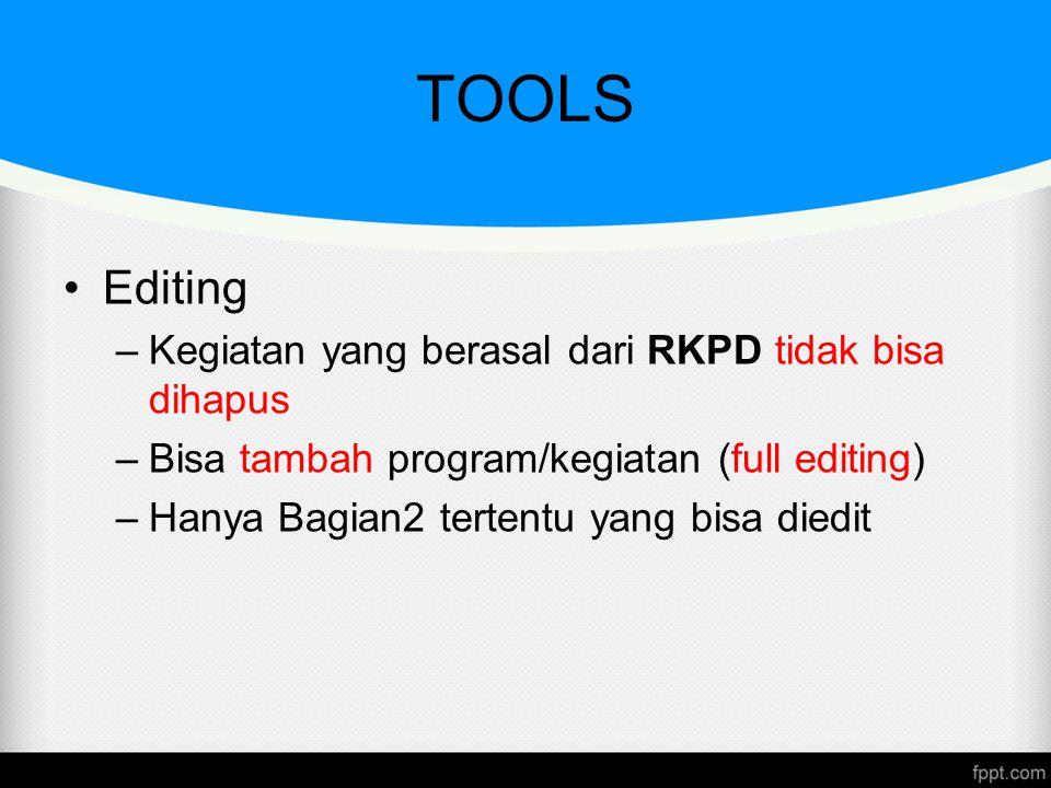TOOLS Editing Kegiatan yang berasal dari RKPD tidak bisa dihapus