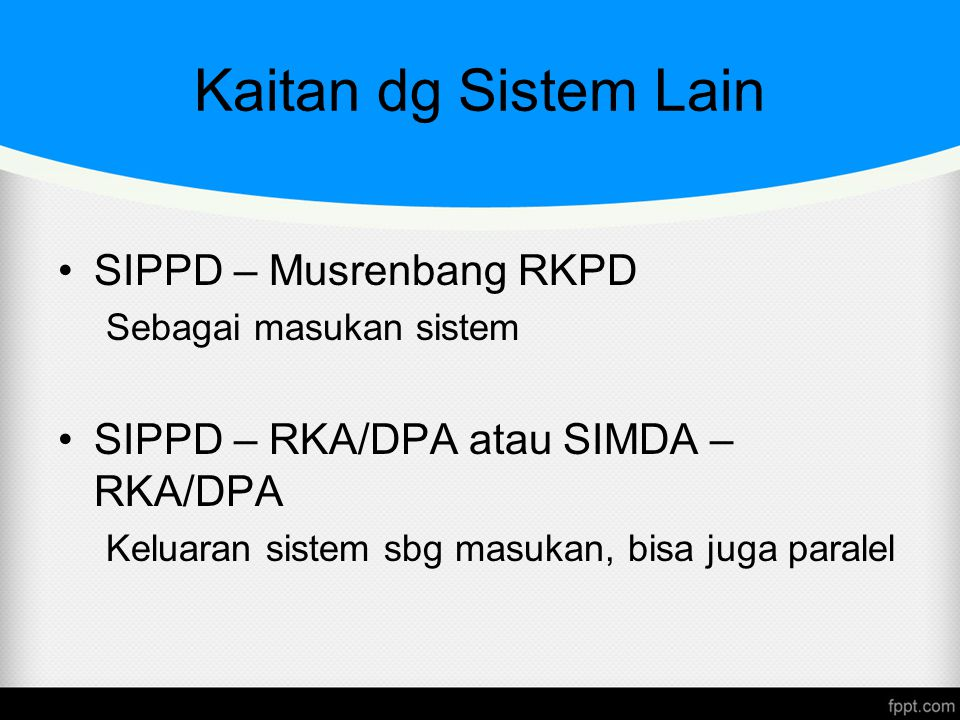 Kaitan dg Sistem Lain SIPPD – Musrenbang RKPD