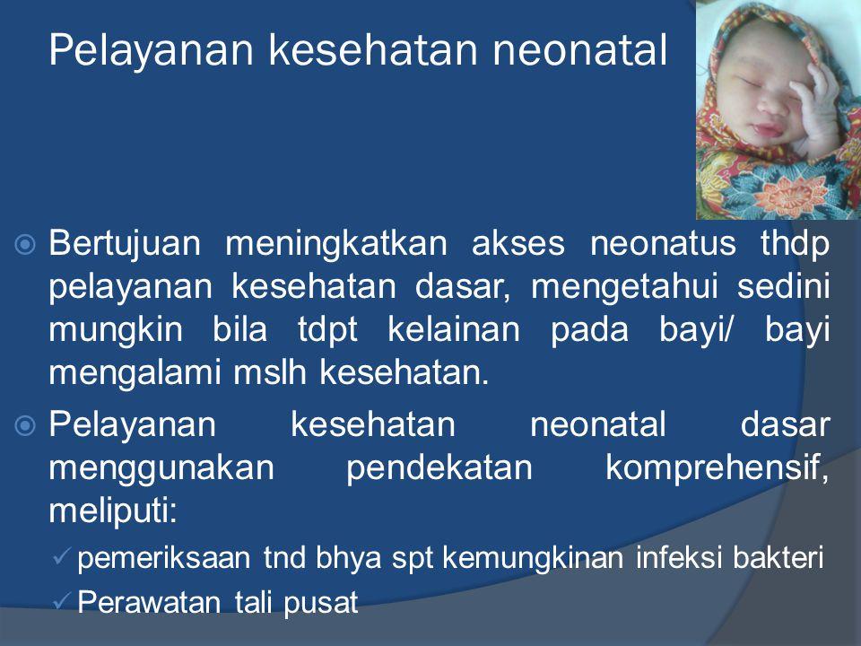 Pelayanan kesehatan neonatal