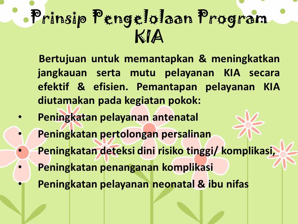 Prinsip Pengelolaan Program KIA