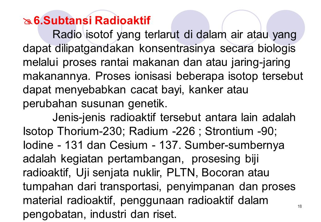 6.Subtansi Radioaktif