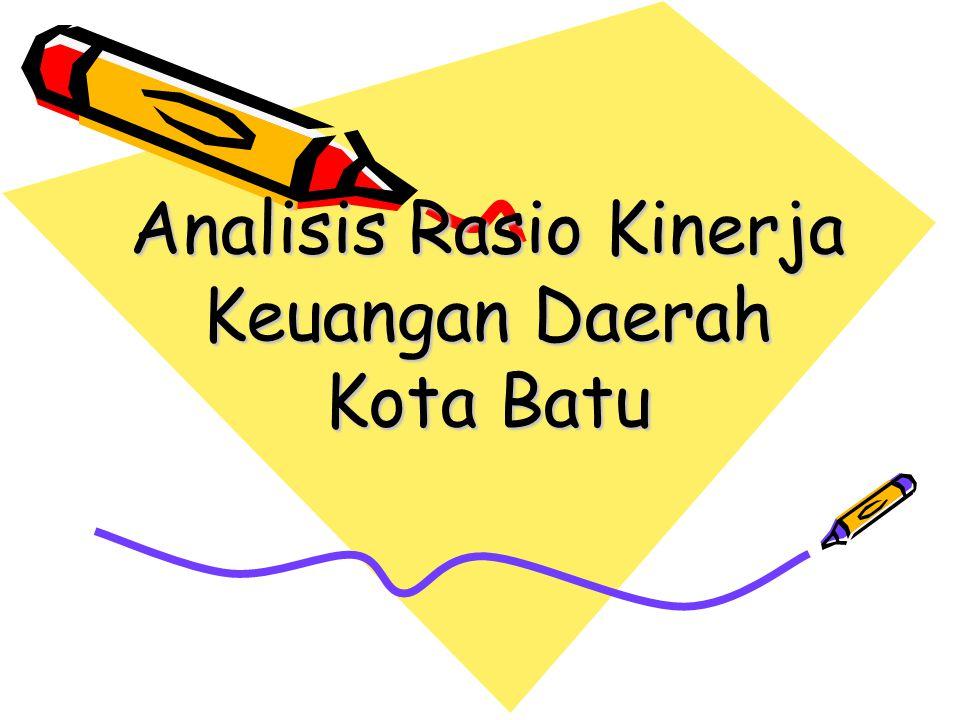 Analisis Rasio Kinerja Keuangan Daerah Kota Batu