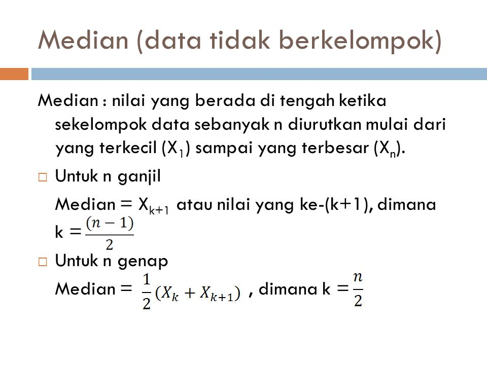 Median (data tidak berkelompok)