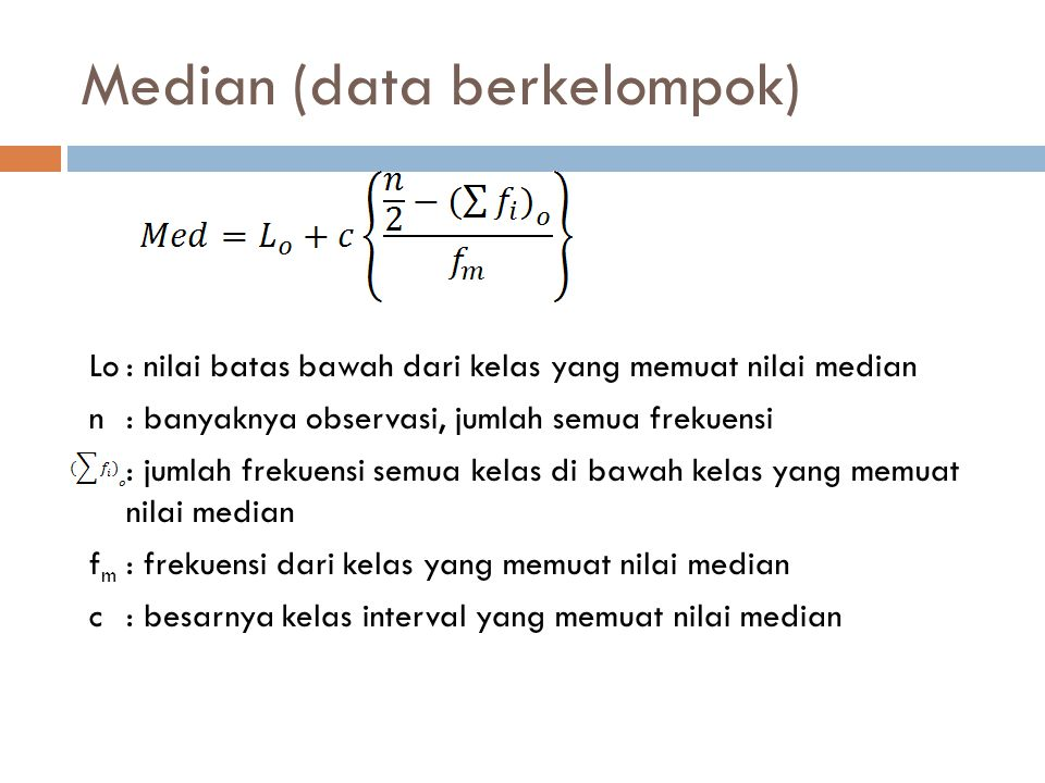Median (data berkelompok)