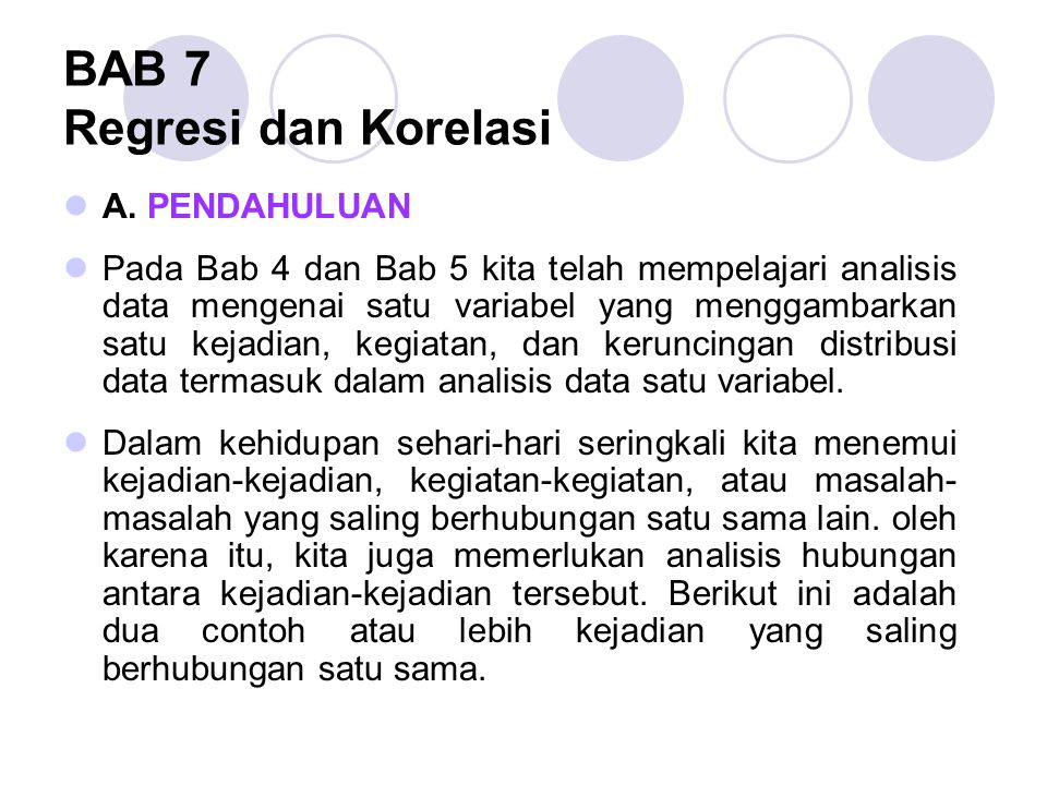 BAB 7 Regresi dan Korelasi
