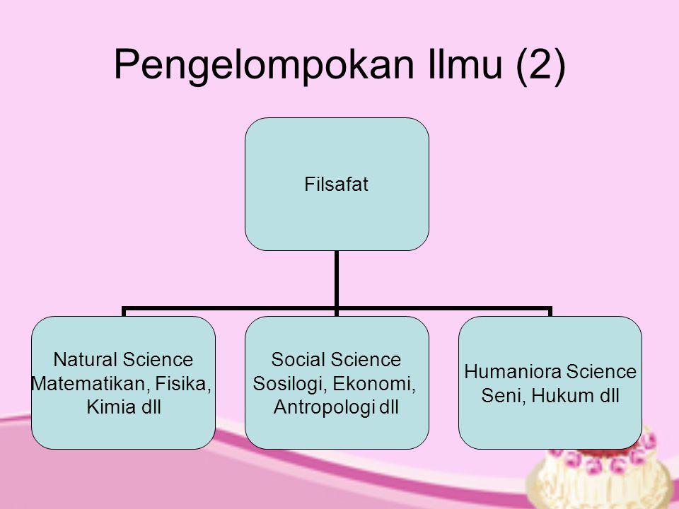 Pengelompokan Ilmu (2)