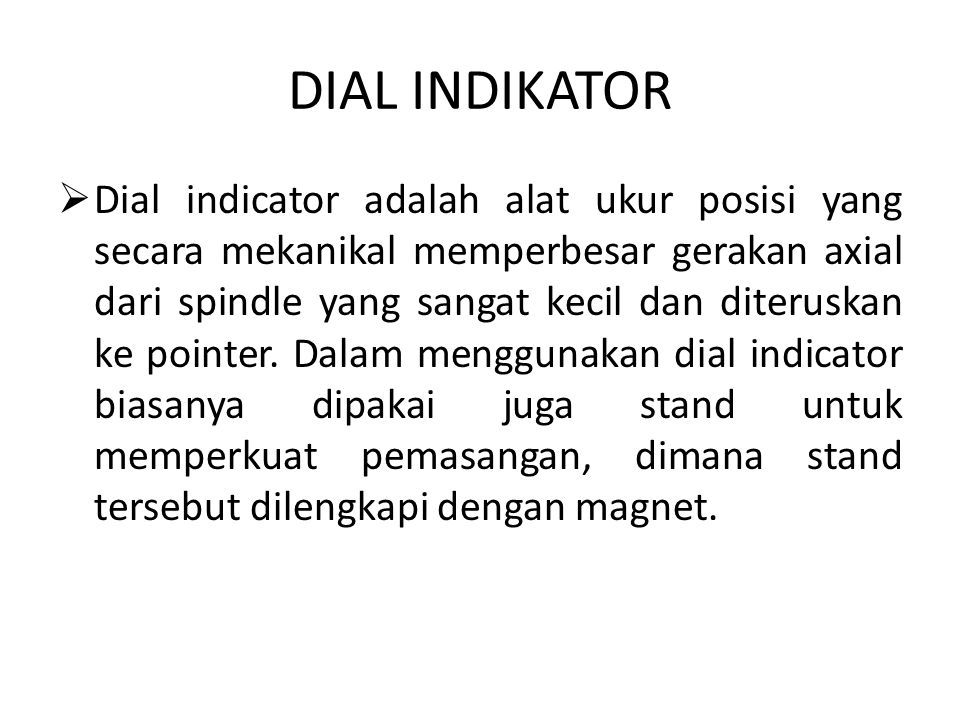 DIAL INDIKATOR
