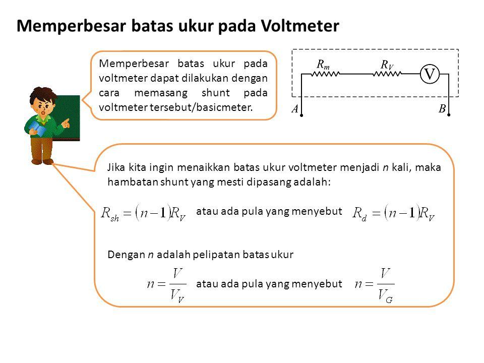 Memperbesar batas ukur pada Voltmeter