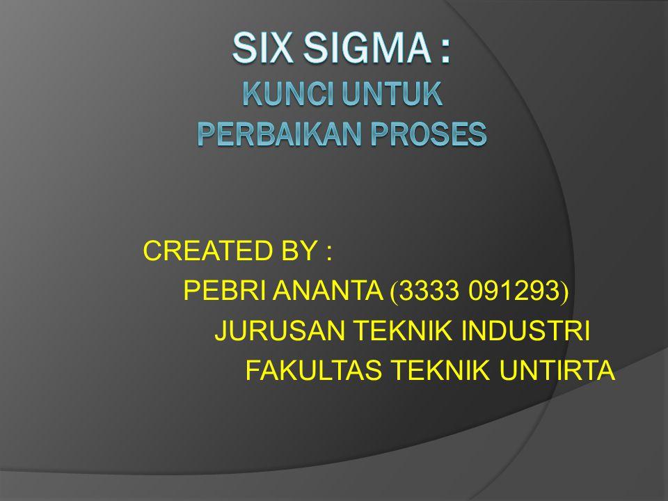 SIX SIGMA : kunci untuk Perbaikan Proses