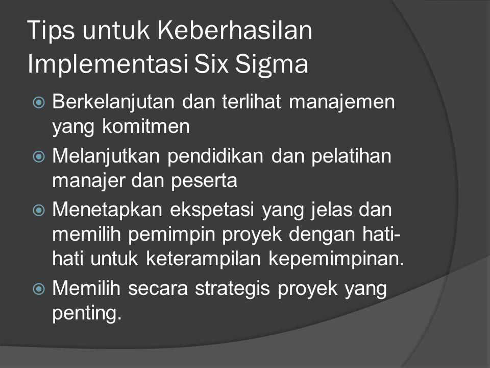 Tips untuk Keberhasilan Implementasi Six Sigma