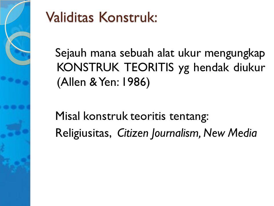 Validitas Konstruk: