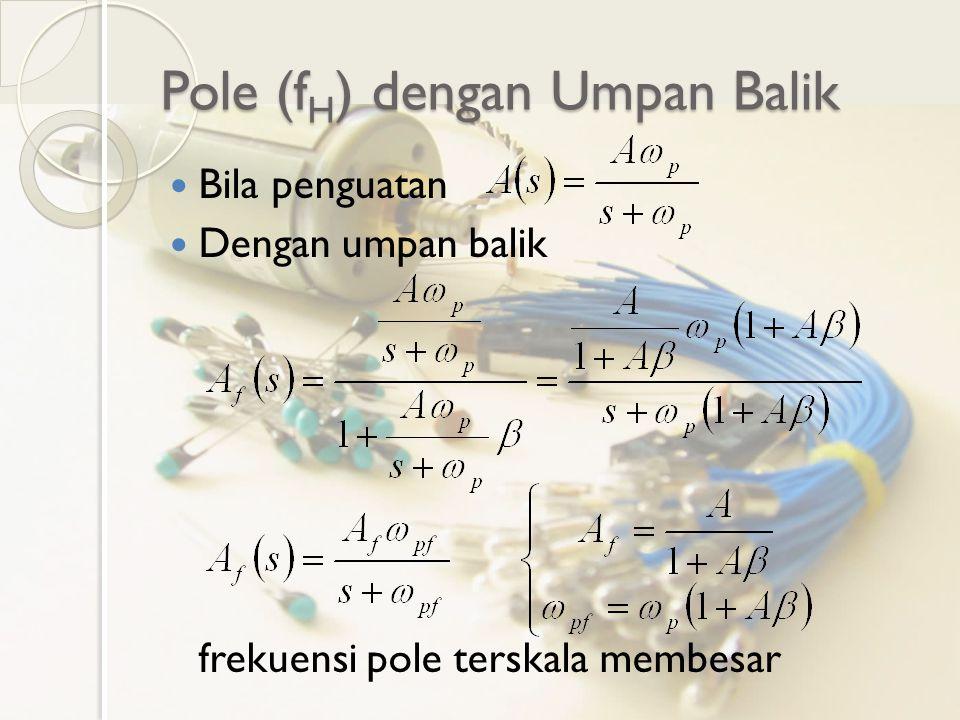 Pole (fH) dengan Umpan Balik