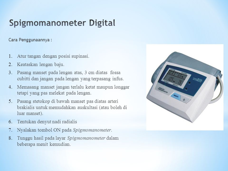 Spigmomanometer Digital
