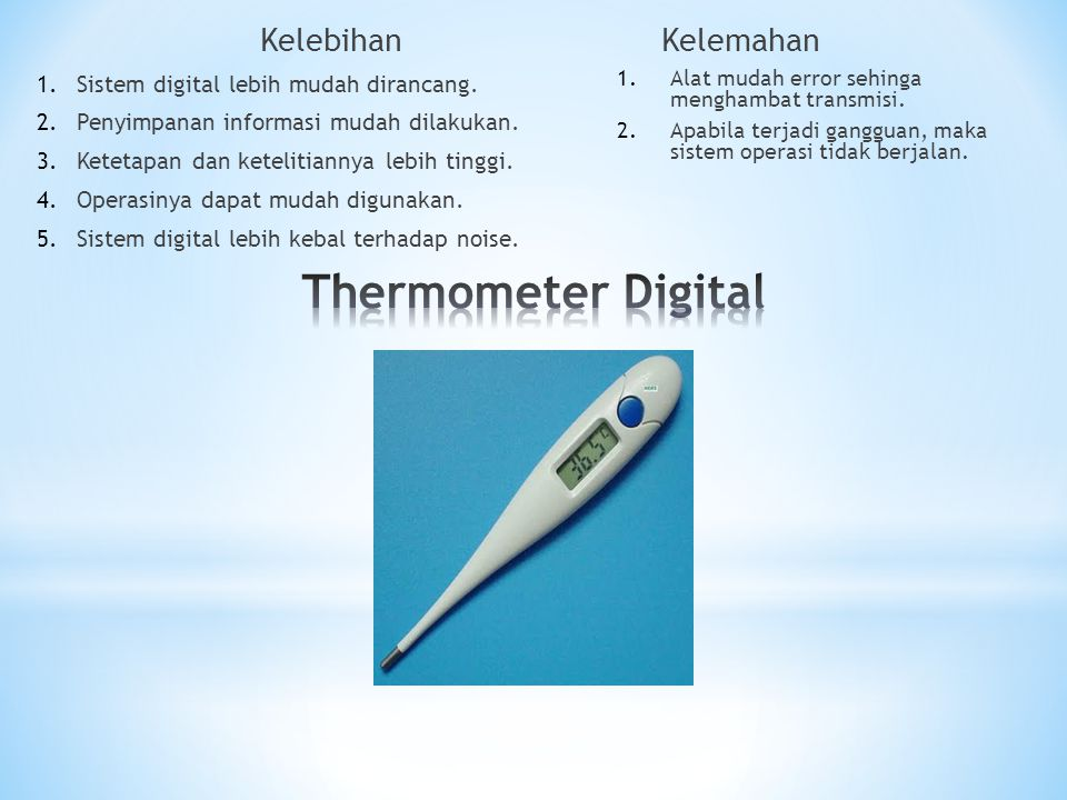 Thermometer Digital Kelebihan Kelemahan