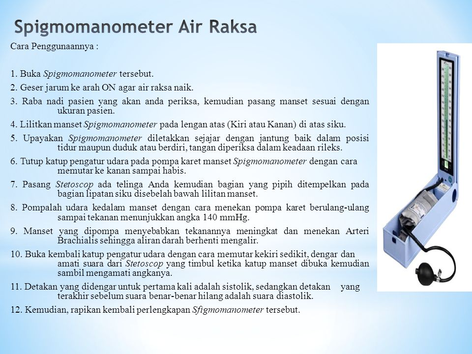 Spigmomanometer Air Raksa