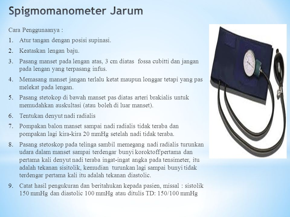 Spigmomanometer Jarum