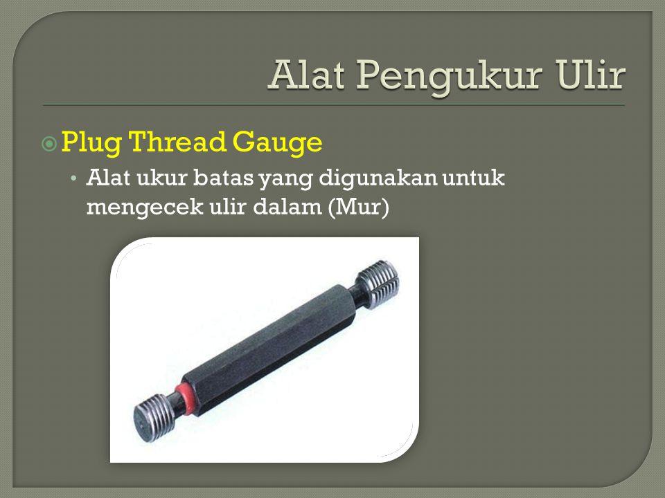 Alat Pengukur Ulir Plug Thread Gauge